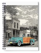 1946 Ford Sports Man Convertible  In Hillsboro N M  Spiral Notebook