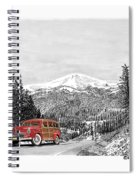 1946 Ford Special Deluxe Woody On Apache Summit Spiral Notebook