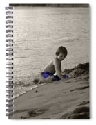 Youth At The Beach Spiral Notebook