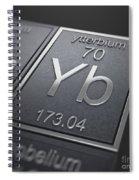 Ytterbium Chemical Element Spiral Notebook