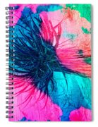 Yucca Abstract Pink Blue Green Spiral Notebook