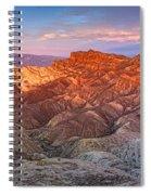 Zabriskie Point Pano Spiral Notebook