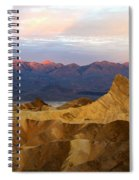 Zabriskie Point Sunrise Death Valley Spiral Notebook