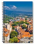 Zagreb Capital Of Croatia Aerial View Spiral Notebook