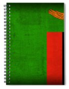 Zambia Flag Distressed Vintage Finish Spiral Notebook