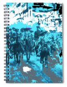 Zapata And Villa At Head Of Convencionista Army Mexico City December 6 1914-2013 Spiral Notebook