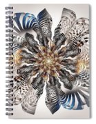 Zebra Flower Spiral Notebook