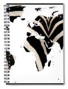 Zebra Fur World Map Spiral Notebook