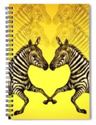 Zebra Heart Spiral Notebook