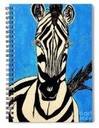 Zebra Portrait 5 Spiral Notebook