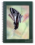 Zebra Swallowtail Butterfly By George Wood Spiral Notebook