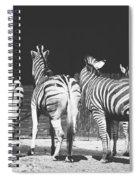 Zebras From Behind Spiral Notebook
