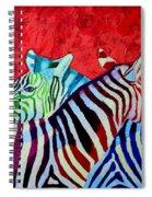 Zebras In Love  Spiral Notebook
