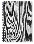 Zebras In Wood Spiral Notebook