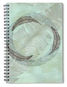 Zen Feather Circle I I Spiral Notebook