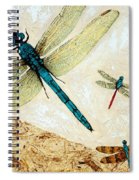 Zen Flight - Dragonfly Art By Sharon Cummings Spiral Notebook