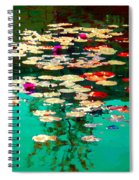 Zen Garden Water Lilies Pond Serenity And Beauty Lily Pads At The Lake Waterscene Art Carole Spandau Spiral Notebook