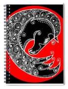 Zen Horse Black Spiral Notebook