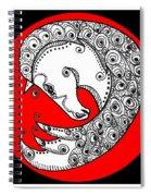 Zen Horse White Spiral Notebook