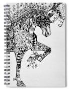 Zentangle Circus Horse Spiral Notebook