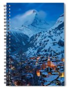 Zermatt - Winter's Night Spiral Notebook
