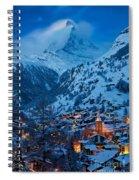 Zermatt - Winter's Night Spiral Notebook
