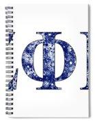 Zeta Phi Beta - White Spiral Notebook
