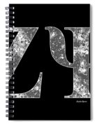 Zeta Psi - Black Spiral Notebook