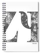 Zeta Psi - White Spiral Notebook