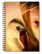 Zeus And Leda Spiral Notebook