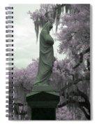 Ziba King Memorial Statue Side View Florida Usa Near Infrared Gr Spiral Notebook