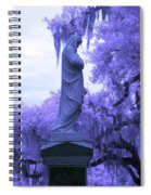 Ziba King Memorial Statue Side View Florida Usa Near Infrared Spiral Notebook