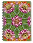 Zinging Zinnia Kaleidoscope Spiral Notebook