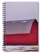 Zink Rd Farm 1 In Winter White Spiral Notebook