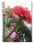 Zinnia Side View Spiral Notebook