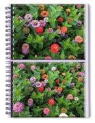 Zinnias 4 Panel Vertical Composite Spiral Notebook