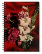 Zinnias And Gladiolas Spiral Notebook