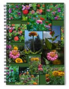 Zinnias Collage Rectangle Spiral Notebook