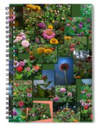 Zinnias Collage Square Spiral Notebook