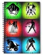 Zodiac Tile Chart Spiral Notebook