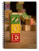 Zoe - Alphabet Blocks Spiral Notebook