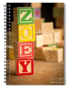Zoey - Alphabet Blocks Spiral Notebook