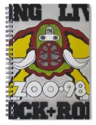 Zoo 98 Elephant Rock And Roll Spiral Notebook