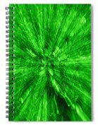 Zoom In Green Spiral Notebook