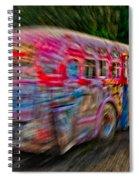 Zooming Graffiti Bus Spiral Notebook