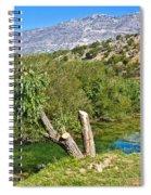 Zrmanja River And Velebit Mountain Spiral Notebook
