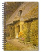 A Child At The Doorway Of A Thatched Cottage  Spiral Notebook