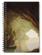 A Grotto In The Gulf Of Salerno - Sunset Spiral Notebook