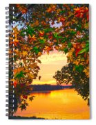 Autumn Leaves A View Spiral Notebook