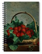 Basket Of Strawberries Spiral Notebook